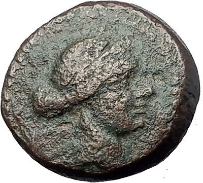 SARDES in Lydia 133BC Authentic Ancient Greek Coin APOLLO & HERCULES CLUB i61641