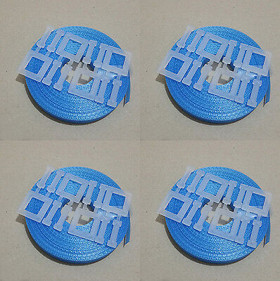 4x Kit BLUE: 15m/12mm strapping 150kg brake + 4x plastic buckle - Hand pallet