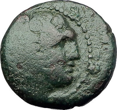 THESSALONICA in MACEDONIA 146BC RARE R2 Ancient Greek Coin HERCULES CLUB i61649
