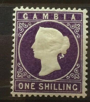£££ Gambia Gambie timbre stamp MH* Queen Victoria - year 1886