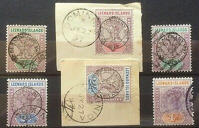 £££ Leeward islands - year 1897 - stamps overprint Sexagnery - Queen Victoria