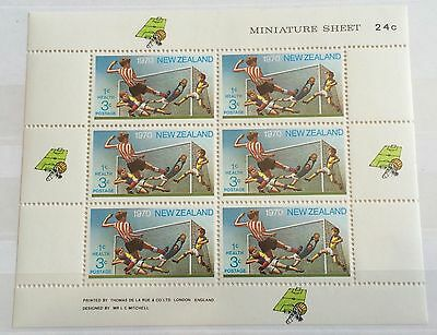 £££ New Zealand - bloc de timbres - soccer - football - 1970 - MNH**