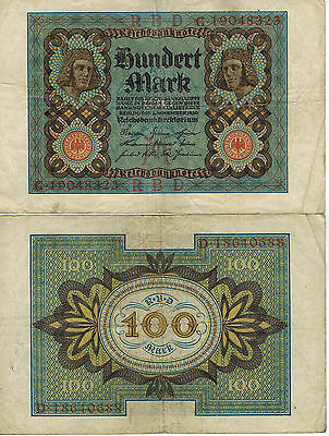 Germany 100 Mark Reich Banknote 1920 Imperial Empire Wwi Currency Wwii Ww2 Look!