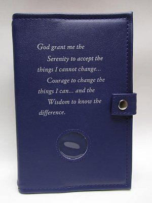 Alcoholics Anonymous AA Big Book and 12&12 Double Cover Serenity Prayer PURPLE