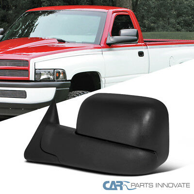 Dodge 94-01 Ram 1500 94-02 Ram 2500 3500 Manual Flip Up Towing Mirror Left Side