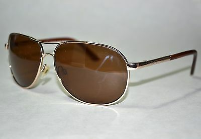 SCRATCHED Suncloud Aviator Gold Sunglasses Brown Polarized Lenses Mens Womens