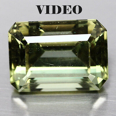 11.35 CT AAA! NATURAL! 10 X 14mm. GREEN APATITE  OCTAGON