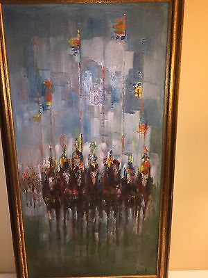 Artist Herman (Hy) Golo Oil Original Painting on Board/Framed Abstract