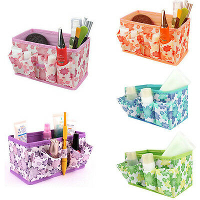 Makeup Cosmetic Storage Bag Bright Organiser Foldable Stationary Container New