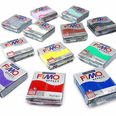 FIMO Effect Oven Modelling Clay Starter Set - 12 x 57g - Multicolour Blocks