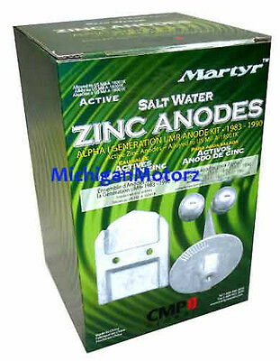 MerCruiser Anode Kit, Alpha I-GEN I Drives - Zinc, Salt Water - CMALPHAGEN1KITZ