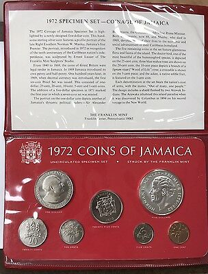 1972 Jamaica 7-Coin Silver Proof Set In Original Packaging