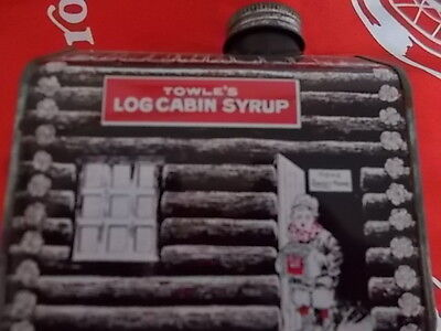 Vintage: Towles Log Cabin Tin Bank...with Tin Screw on Cap...1979 General Foods