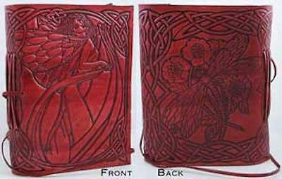 Red Leather FAIRY Book of Shadows, Journal!