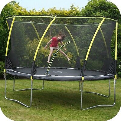 Plum 14ft Whirlwind Trampoline and 3G Safety Enclosure