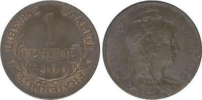 Frankreich 1 Centime Liberty head - 1900 Scarce !
