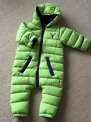 New Boys Warm Padded Puffa Style Honour & Pride Snow Suit 12-18 Months