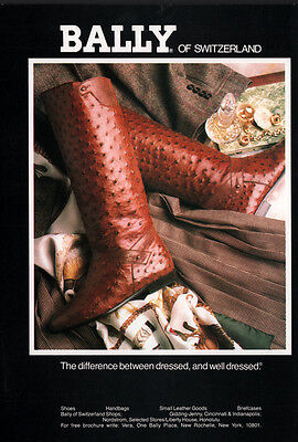Ad Lot Of 4 1986 - 1991 Bally Switzerland Boots Shoes Alligator