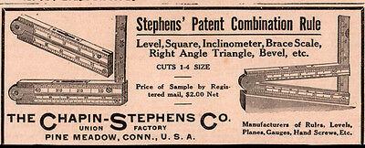 1911 C Ad Chapin Stephens Co Pine Meadow Ct Combination Rule Level Square