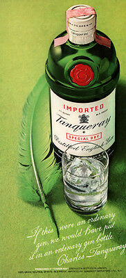 Ad Lot Of 10 1969 -76 Ads Tanqueray Gin Victorian Gift Box Quill