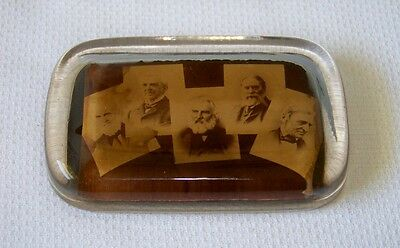 Antique 1900's Famous American Poets Paperweight HOLMES,LOWELL,WHITTIER,EMERSON