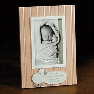 Photo Frame-Little Lamb-Pink (Holds 4 x 6 Photo)