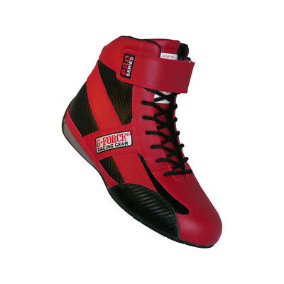 G-FORCE Racing Racing Shoes 0236115RD; GF-236 Pro-Series Mid-Top Boot Red 11.5