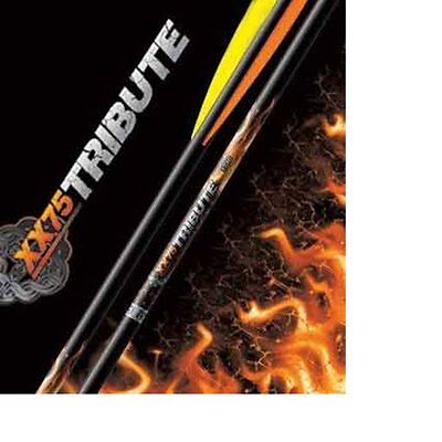 Easton Archery Aluminium TRIBUTE Arrows x 6 Black Recurve Compound Various Spine