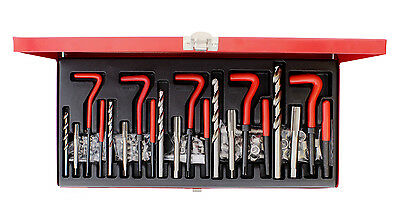 ABN 131-Piece Metric Helicoil-Type Thread Repair Set for Automotive Repairs