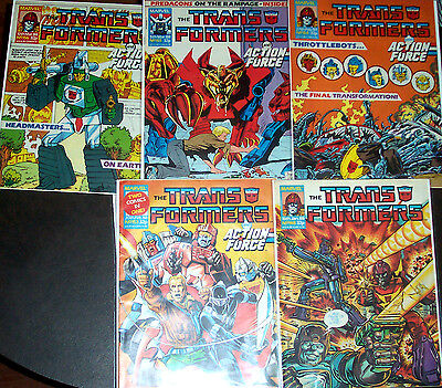 TRANSFORMERS #148,153,154,155,156 (VF/NM) 5 Copper-Age Issues! 1988 Marvel UK