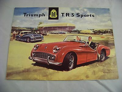 Triumph Tr 3 1958 Usa Dealer Brochure + Estate Wagon Brochure Vintage Vg+