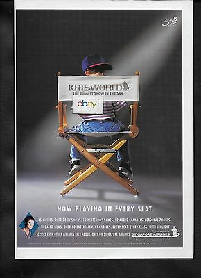 Singapore Airlines Krisworld The Biggest Show In The Sky 1997 Now Playing Ad