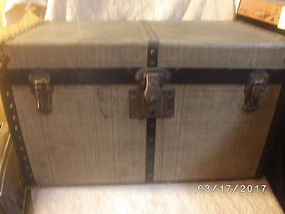 Antique Vintage Mendel Drucker Cincinnati Ohio Doll Steamer Trunk w/ Tray