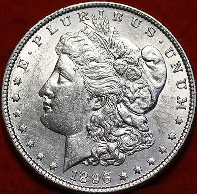Uncirculated 1896  Philadelphia Mint Silver Morgan Dollar Free S/H