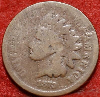 1873  Philadelphia Mint Copper Indian Head Cent Free Shipping
