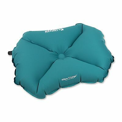 Klymit Pillow X Large Soft Inflatable Outdoor Travel Camping Pillow, Teal