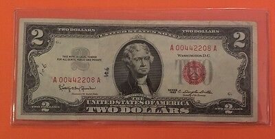 $2 Red Seal Series of 1953 United States Notes Lucky Note