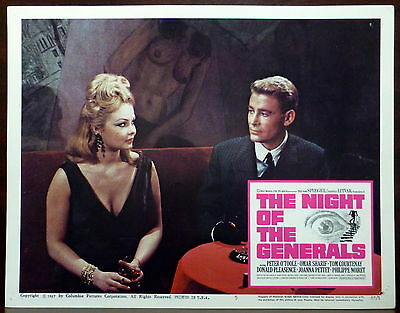 Peter O'Toole LOT 3 ORIGINAL 1967 Lobby Cards Night of the Generals WWII