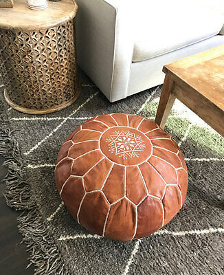 Brand NEW Moroccan Leather Ottoman Pouffe Pouf Footstool