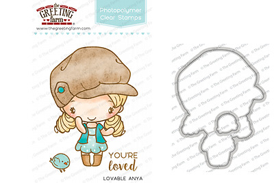 LOVABLE ANYA STAMPS & DIES-The Greeting Farm-Stamping Craft-Photopolymer/Clear
