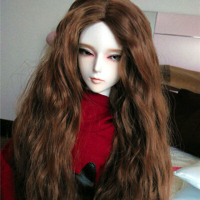 "7-8/"" 1//4 BJD Long Light Red Brown Wig LUTS Doll SD DZ DOD MSD Dollfie Hair AL"