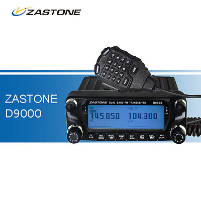 Car Walkie Talkie VHF&UHF ZASTONE D9000 LED Display Transceiver Mobile Ham Radio