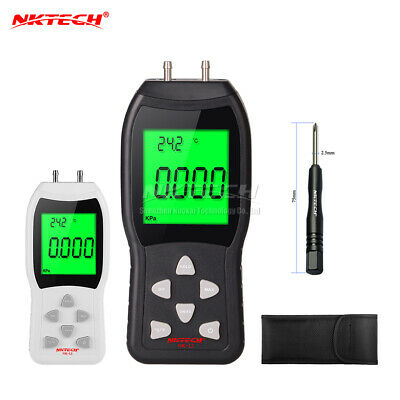 NKTECH NK-L3 Digital Manometer Differential Air Pressure 3PSI Gauge Temperature