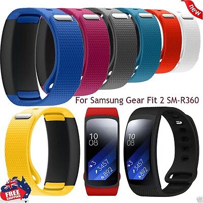 For Samsung Gear Fit 2 SM-R360 Men Women Silicone Watch Replacement Band StrapAU