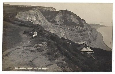 ISLE OF WIGHT Lady Sitting at Blackgang Chine, RP Postcard Unused