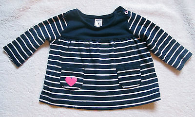 Girls Baby Infant Carter's striped top shirt size 6 M months