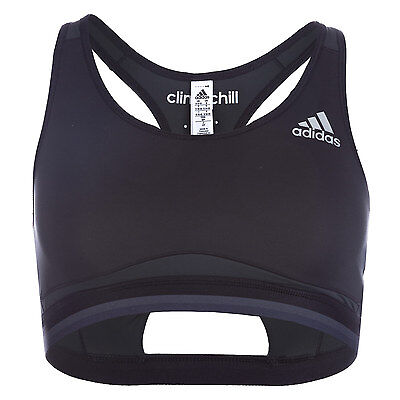 Womens adidas Womens Techfit Chill Bra in Black - 12-14 From Get The Label