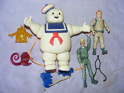 Vintage 1984 Original Ghostbusters Figures Ghosts Plasma Marshmellow Man Etc