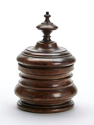 Vintage/antique Turned Hard Wood Lidded Container 19/20Th C