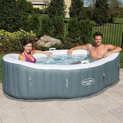 Bestway Lay-Z-Spa Siena Portable Inflatable Hot Tub BW54156